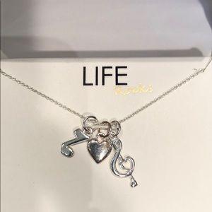 New-Sterling Sliver Charm Necklace